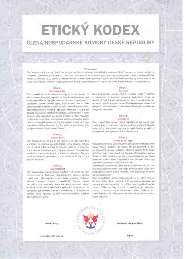 Etický kodex člena HK ČR